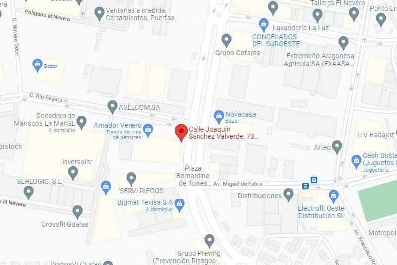 ubicación google maps mampex
